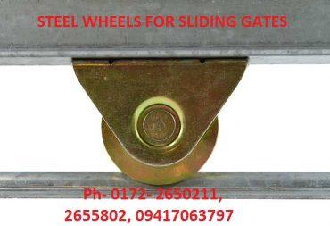 Steel wheels for sliding gates